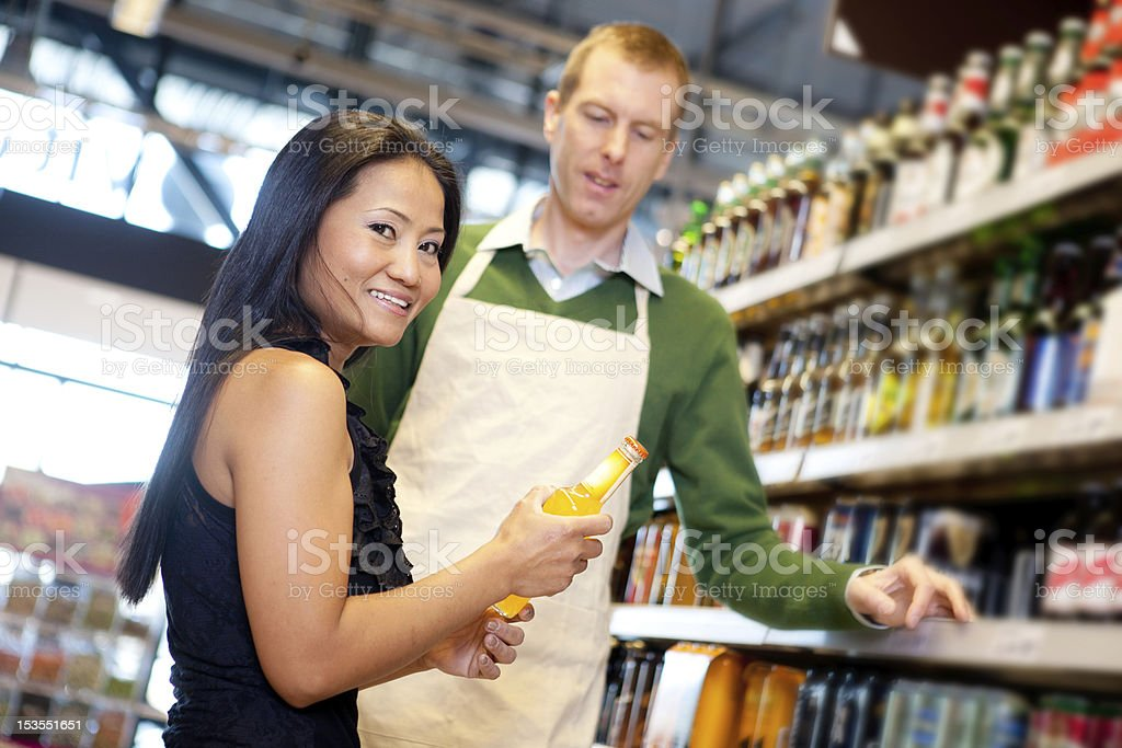 Grocery Store Help royalty-free stock photo