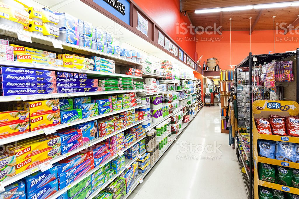 Grocery Store Kitchen Supplies stock photo