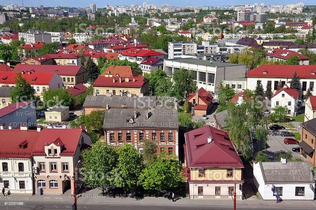 Grodno Panorama. stock photo