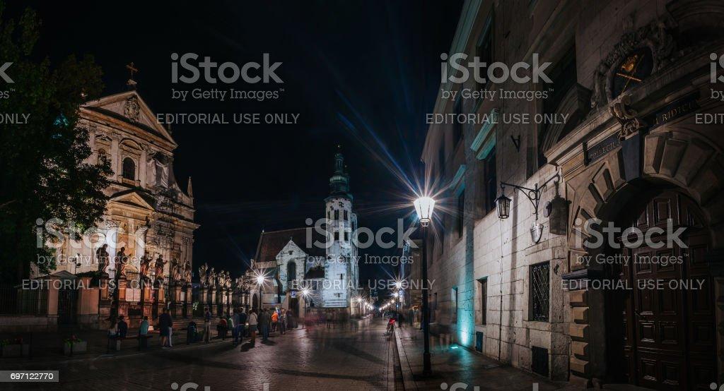 Grodzka street stock photo