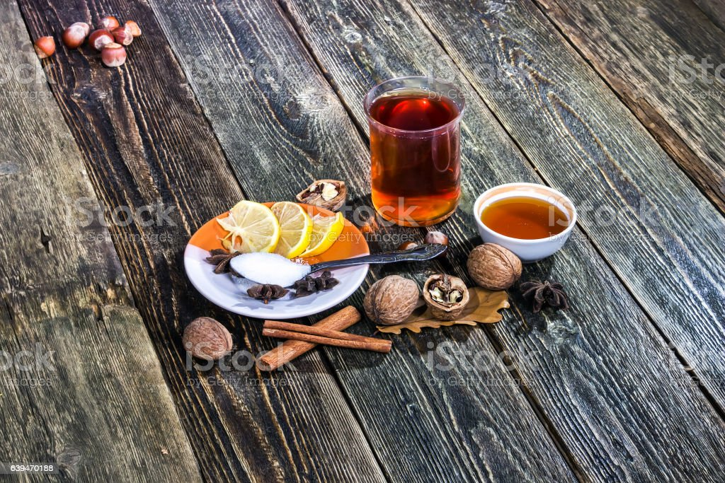 Grog - a traditional Scandinavian mulled wine stock photo