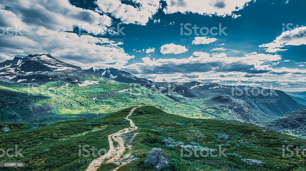 Grogeous Landscape of Norway stock photo