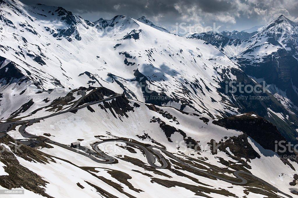 Gro?glockner Alpine Road Hochalpenstra?e stock photo