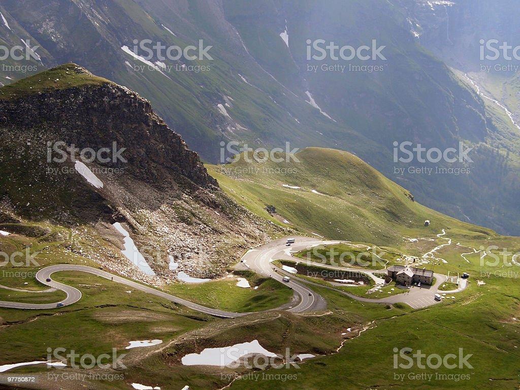 Großglockner high alpine roads royalty-free stock photo