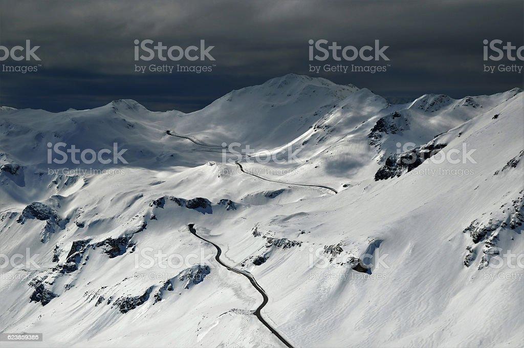 Großglockner Hochalpenstrasse stock photo