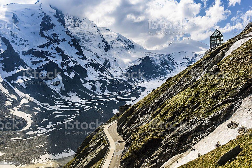 Großglockner mountain pass Hohe Tauern glacier royalty-free stock photo