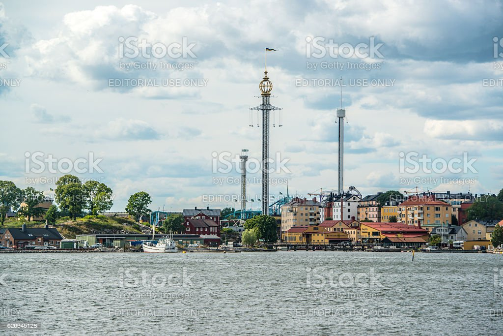Grona Lund's Amusement Park, Stockholm, Sweden stock photo