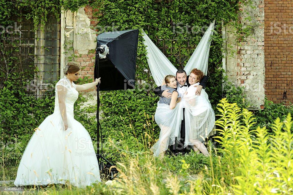 groom having fun royalty-free stock photo