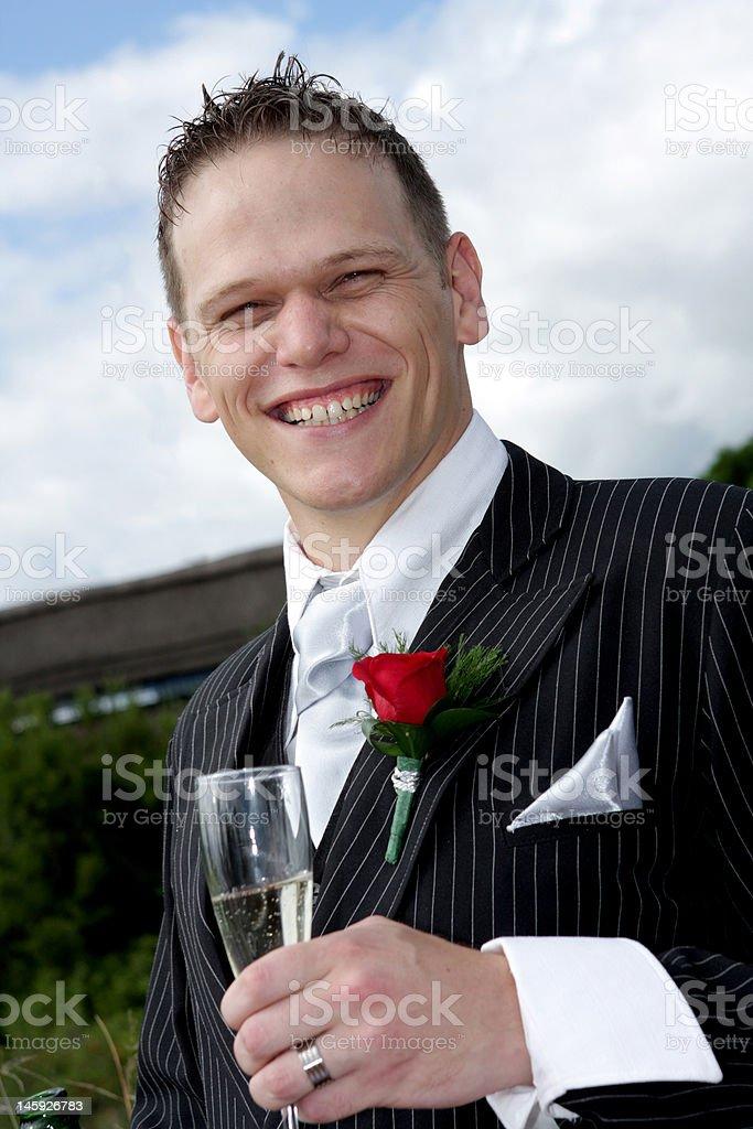Groom Toast royalty-free stock photo