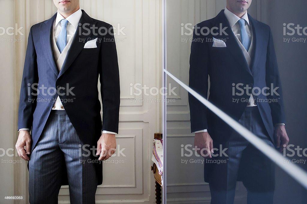 groom tuxedo stock photo
