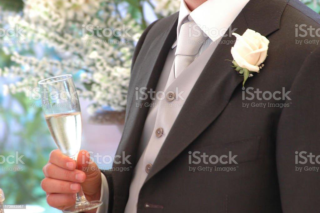 groom wedding toast royalty-free stock photo