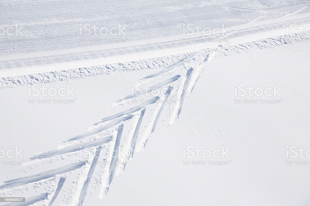Groomed Ski Slope royalty-free stock photo