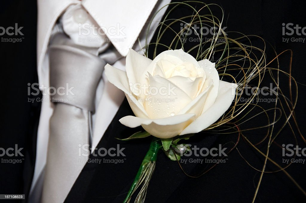 rose buttonhole tanto foto de stock libre de derechos