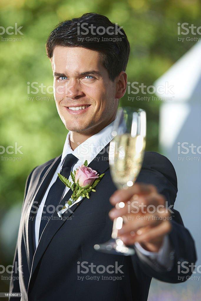 Groom's toast royalty-free stock photo