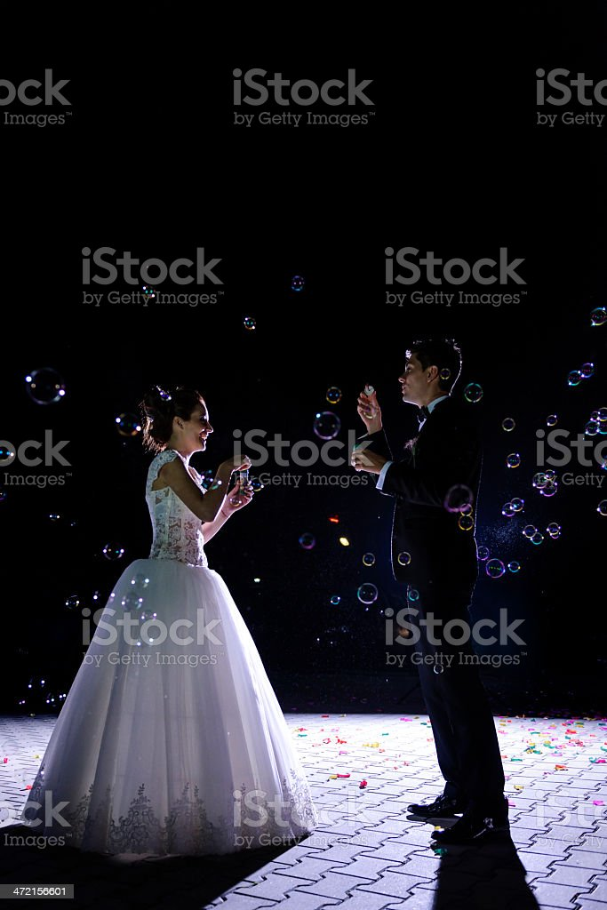 grooms with water balloons royalty-free stock photo