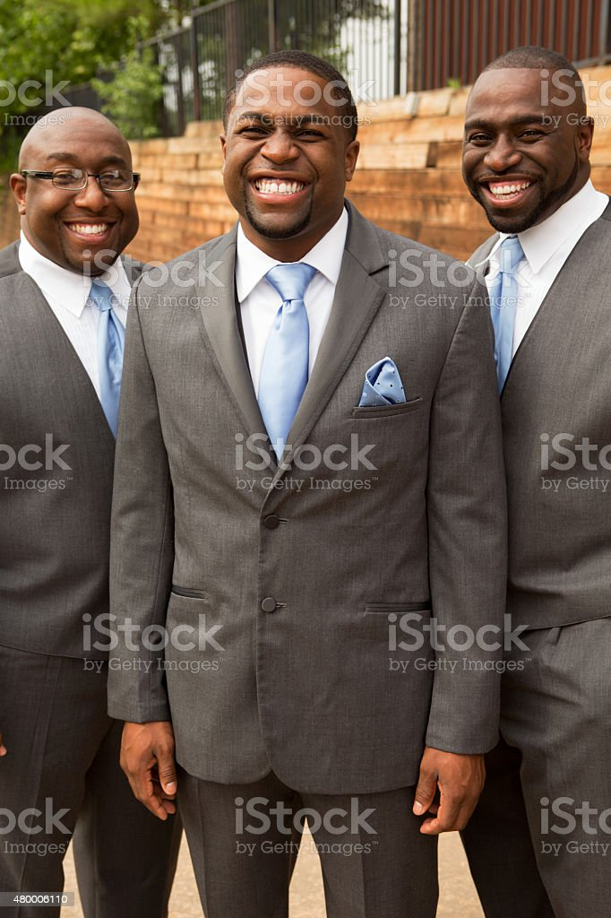 Groomsmen stock photo