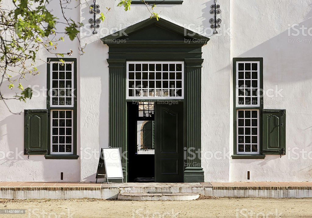 Groot Constantia entrance stock photo