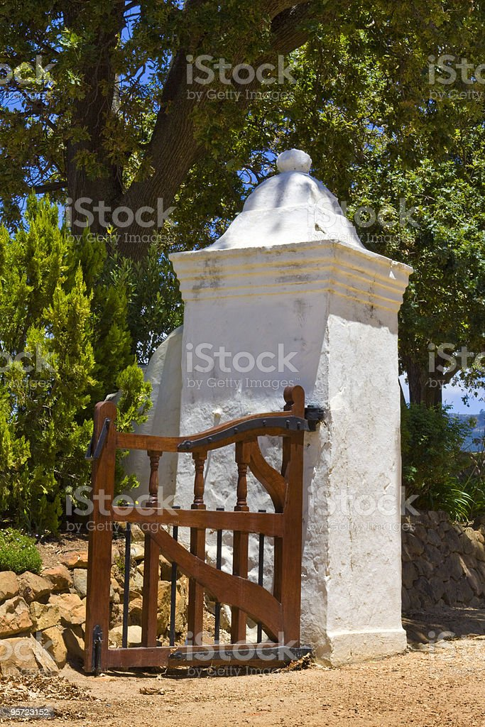 Groot Constantia manor house gate royalty-free stock photo
