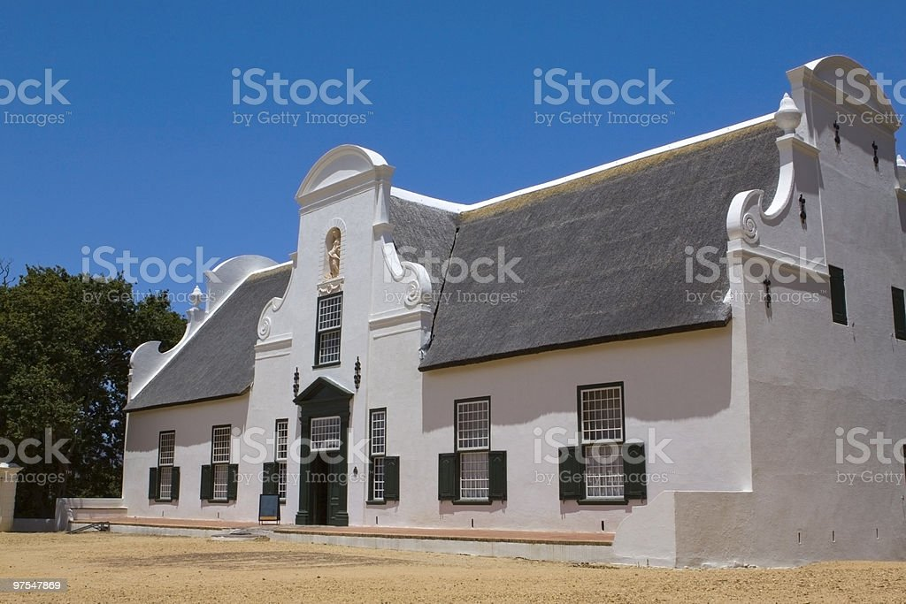Groot Constantia manor house stock photo