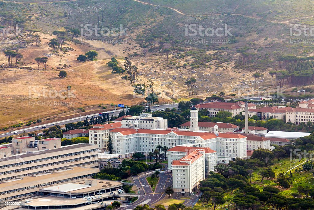Groote Schuur Hospital in Cape Town stock photo