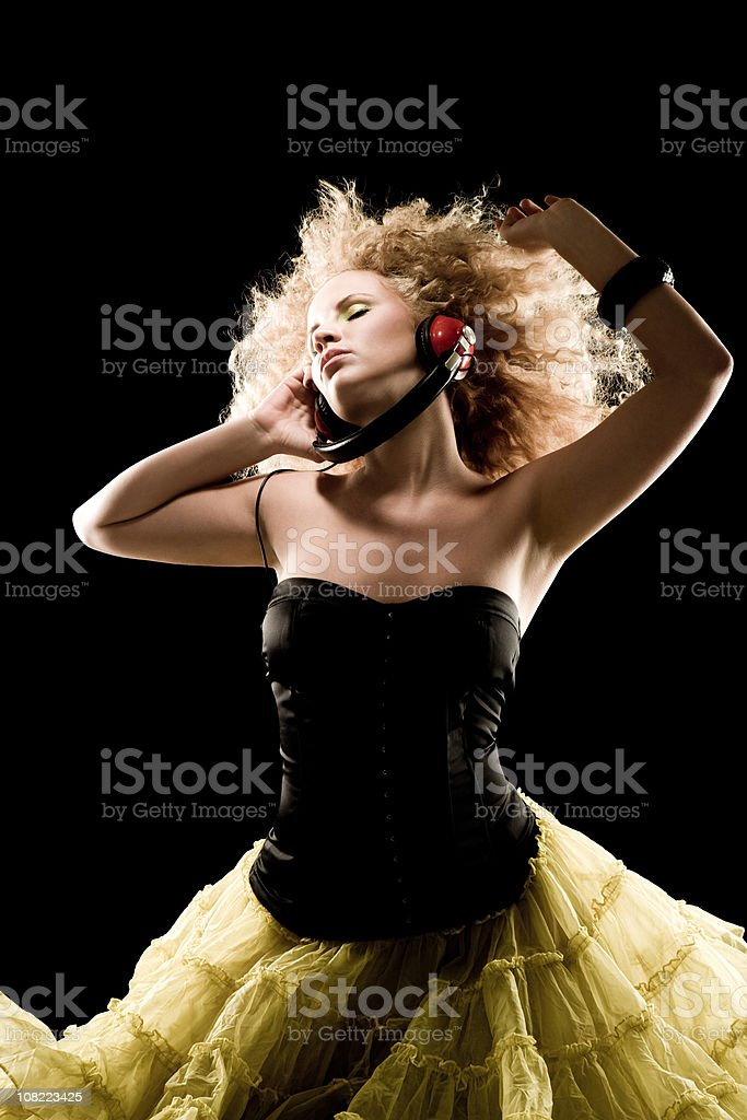 Groovin' royalty-free stock photo