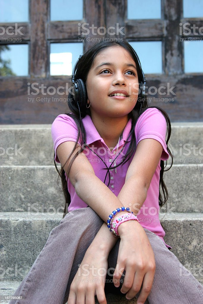 Grooving Girl royalty-free stock photo