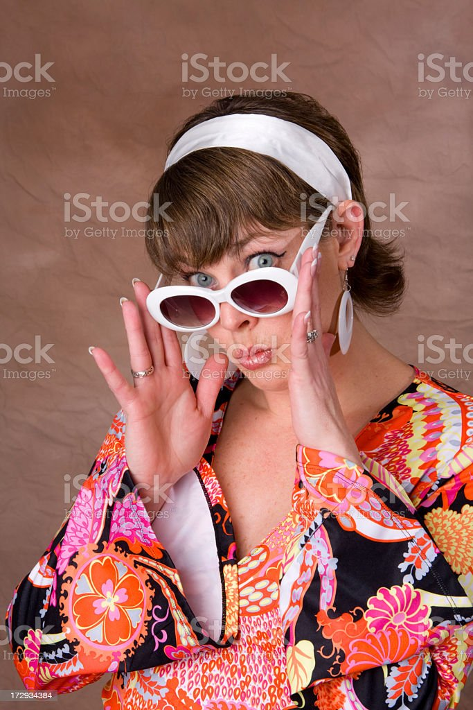 Groovy Retro Chick royalty-free stock photo