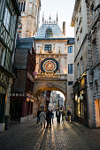 Gros Horloge clock tower in Rouen, France