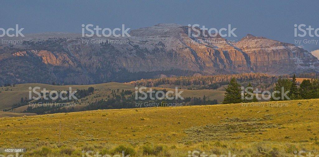 Gros Ventre Wilderness Sunset stock photo