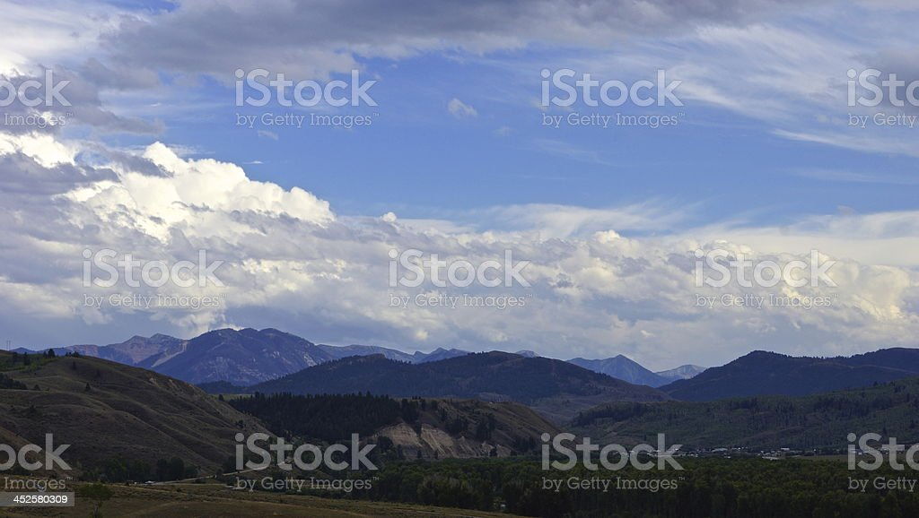 Gros Ventre Wilderness View stock photo