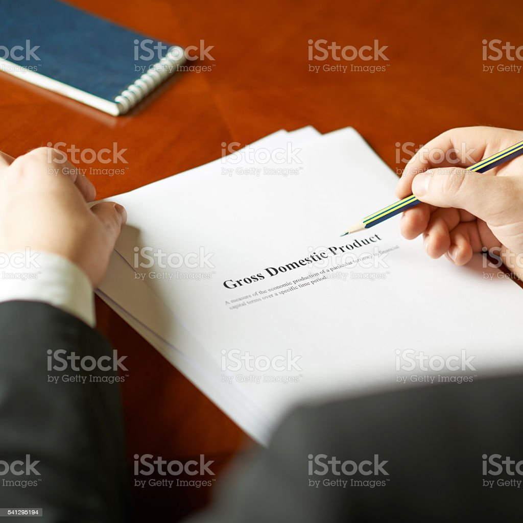 Gross domestic product definition composition stock photo