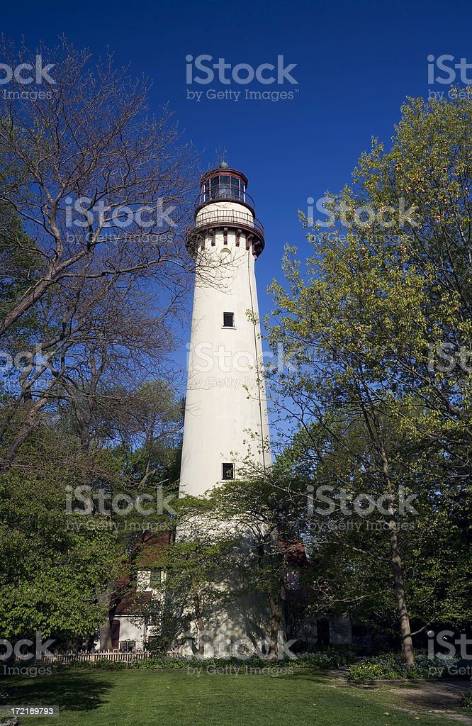 Grosse Point Lighthouse royalty-free stock photo