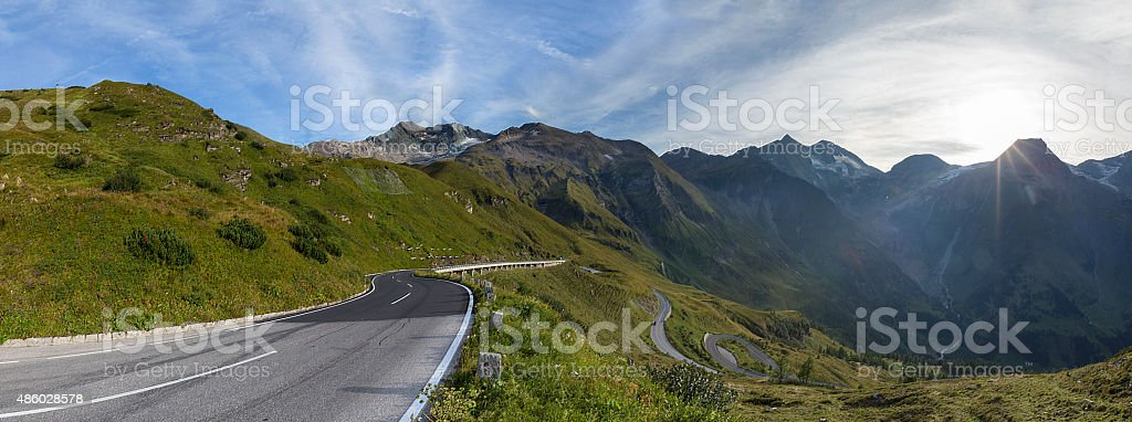 Grossglockner Alpine road in the Alps. Hohe Tauern National park stock photo