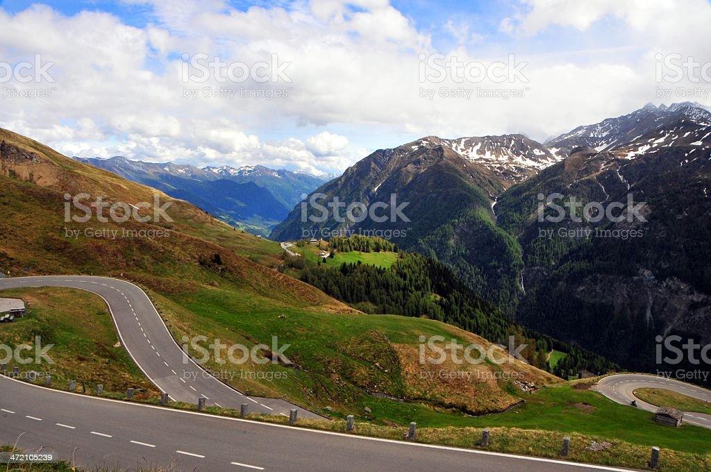 Grossglockner alpine road foto royalty-free