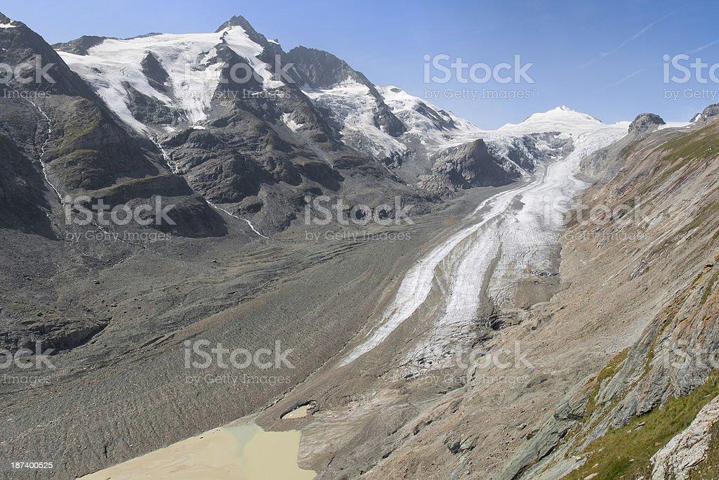 Grossglockner and Pasterze glacier stock photo