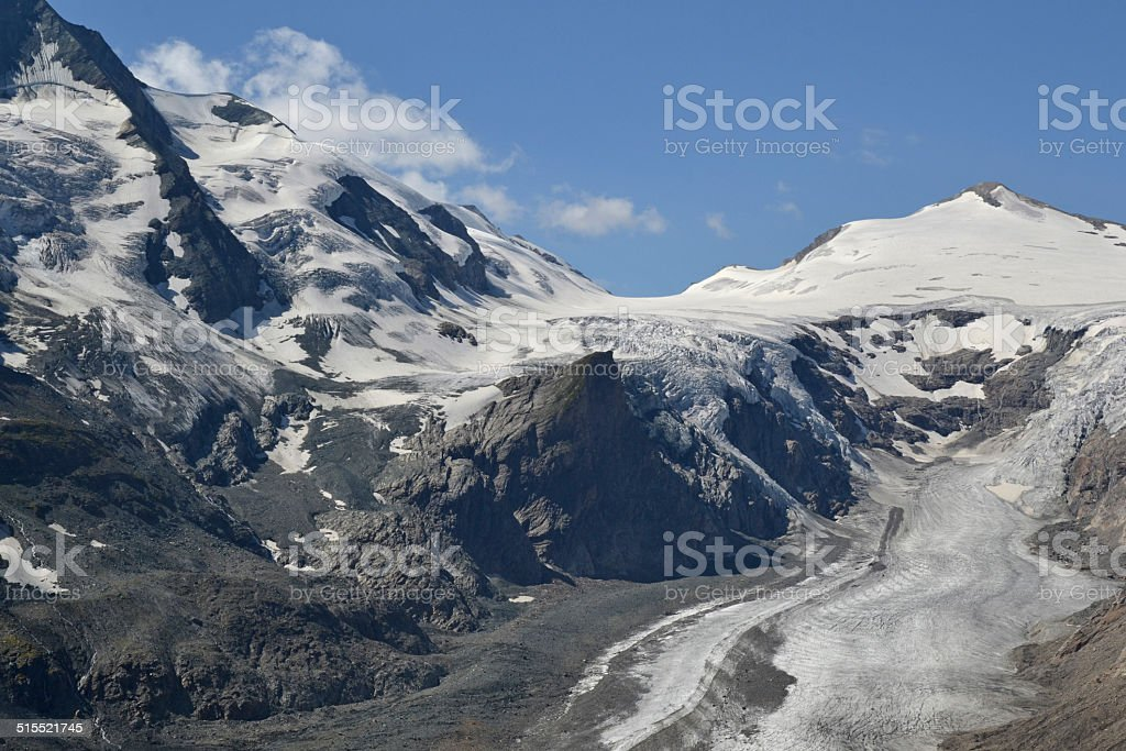 Grossglockner and Pasterze stock photo