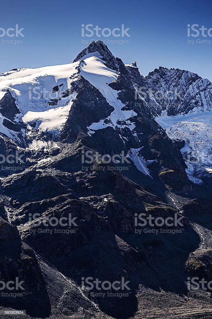 Grossglockner, Austria's highest mountain stock photo