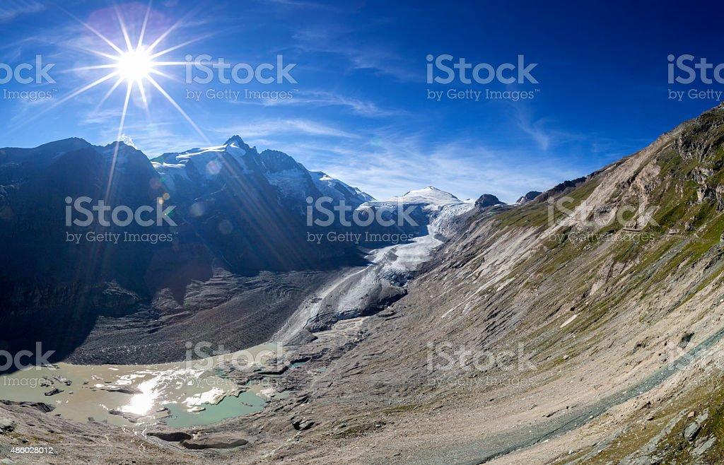 Grossglockner glacier in Austria stock photo