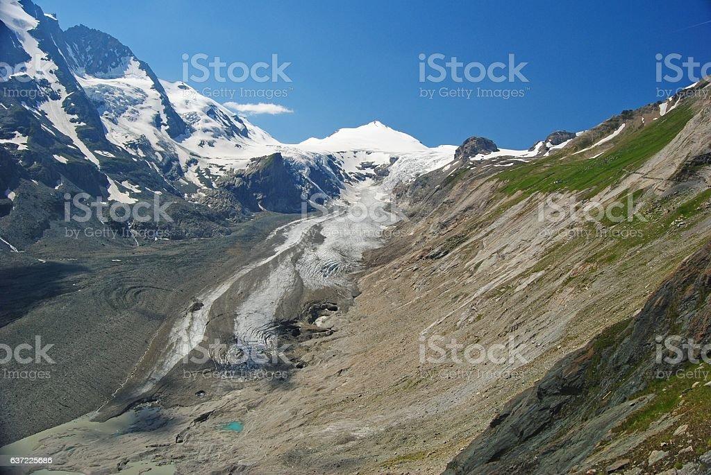 Grossglockner massif and glacier in Austria stock photo