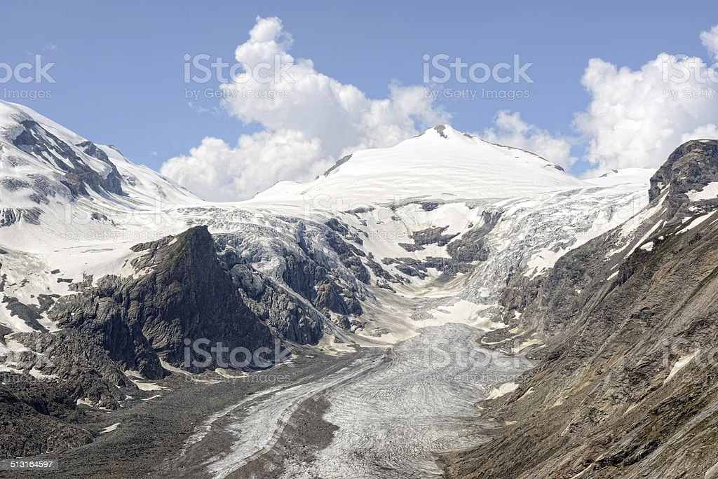Grossglockner mountain and glacier stock photo