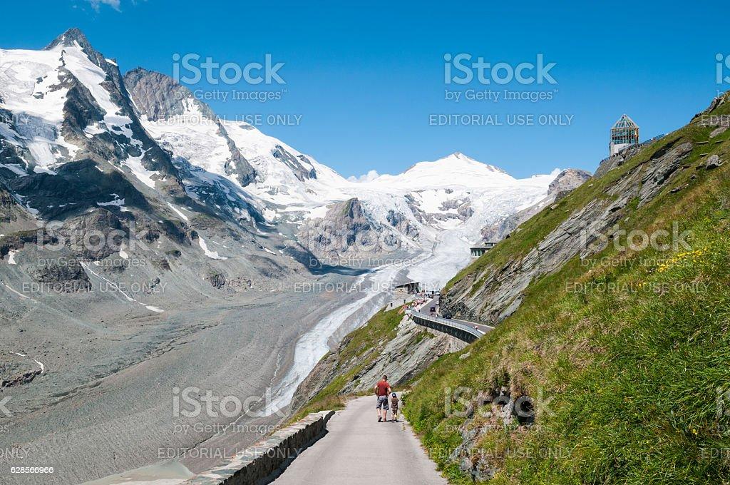 Grossglockner Pasterze glacier in Austrian Alps stock photo
