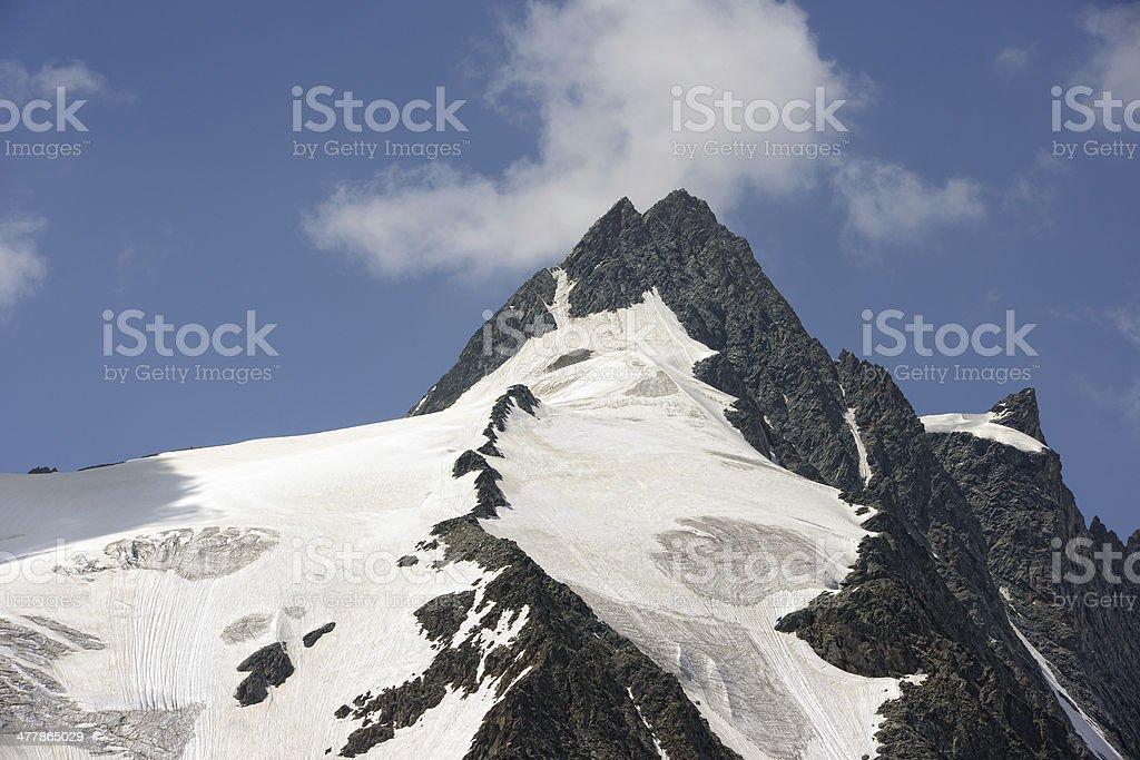 Grossglockner peak royalty-free stock photo