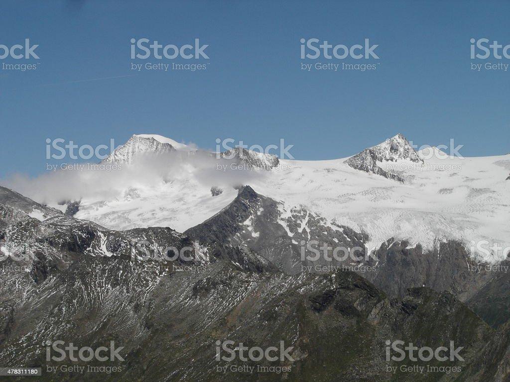 Grossvenediger seen from Virgen Valley stock photo