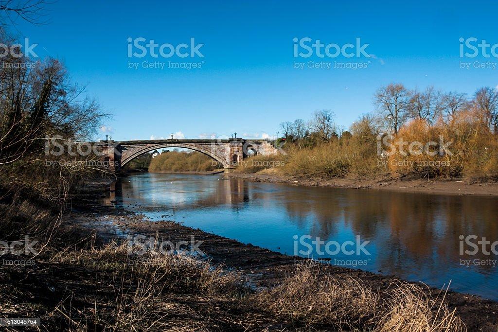 Grosvenor Bridge Chester stock photo