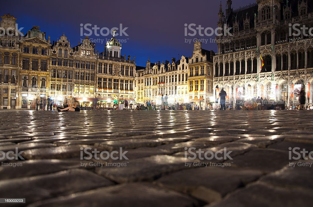 Grote market Brussels stock photo