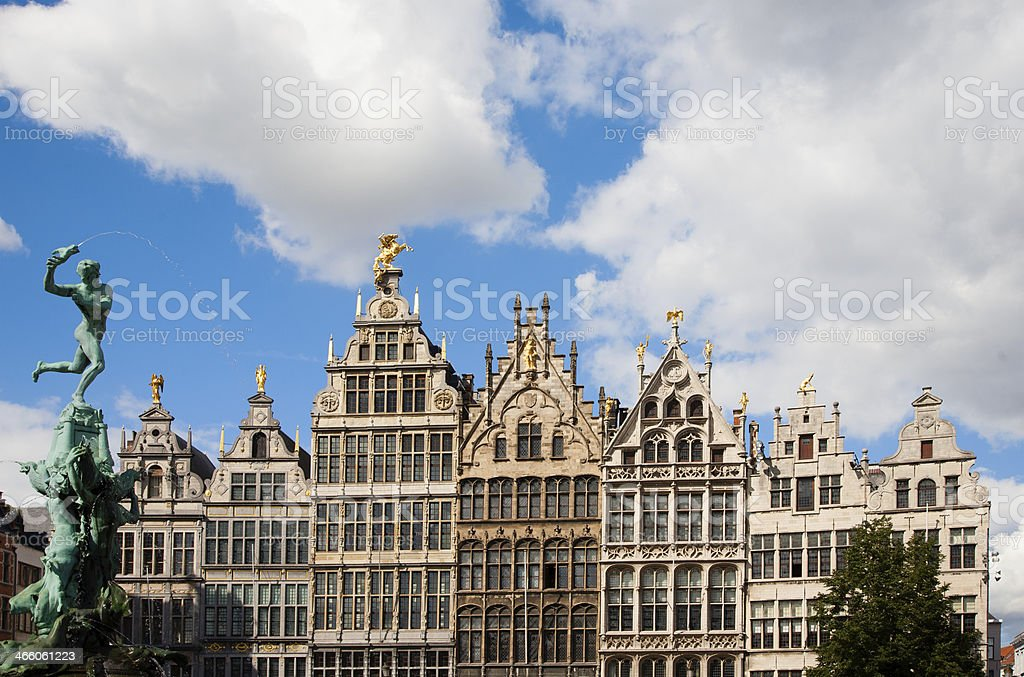 Grote Markt Antwerp royalty-free stock photo