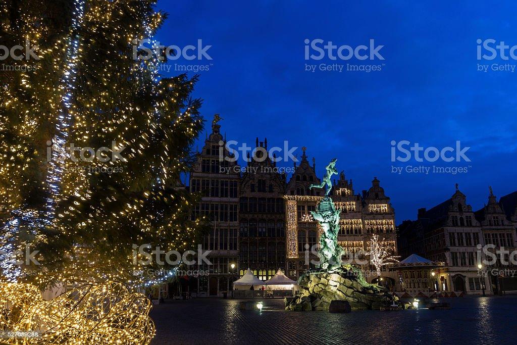 Grote Markt in Antwerp in Belgium stock photo