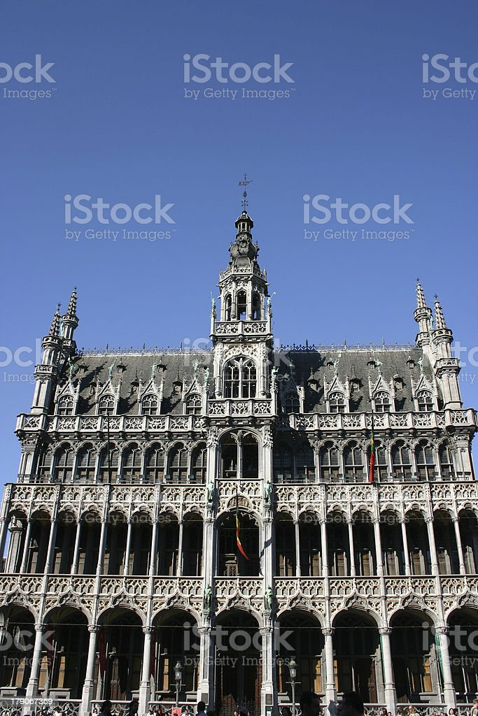 grote markt in brussels royalty-free stock photo