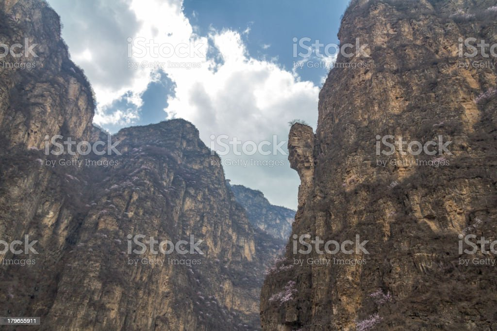 Grotesque rock stock photo