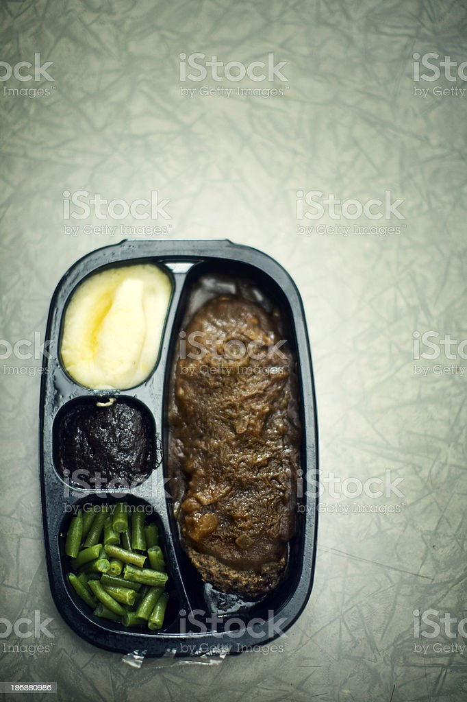 Grotesque T.V. Dinner royalty-free stock photo